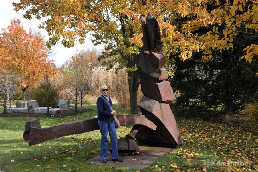 大地雕塑公园(grounds for sculpture)坐落在美国新泽西州汉密尔