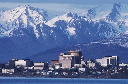 安克雷奇的冬天在阿拉斯加州比内陆的状态温和一些,其居民的靴子是