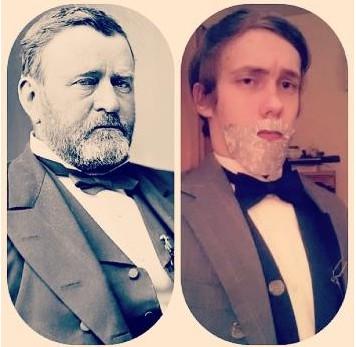 美青少年个性自拍 模仿美国历届总统图片